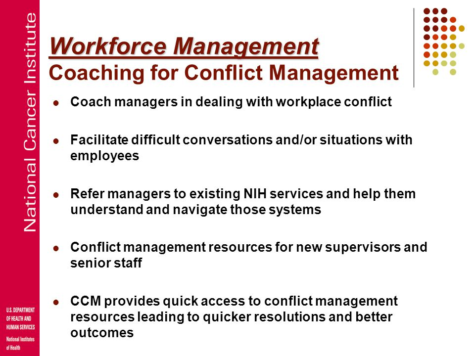 Workforce Management Coaching for Conflict Management