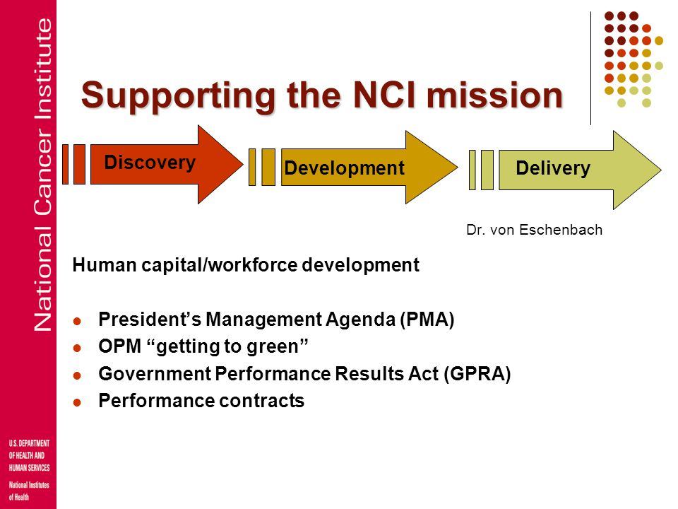 Supporting the NCI mission