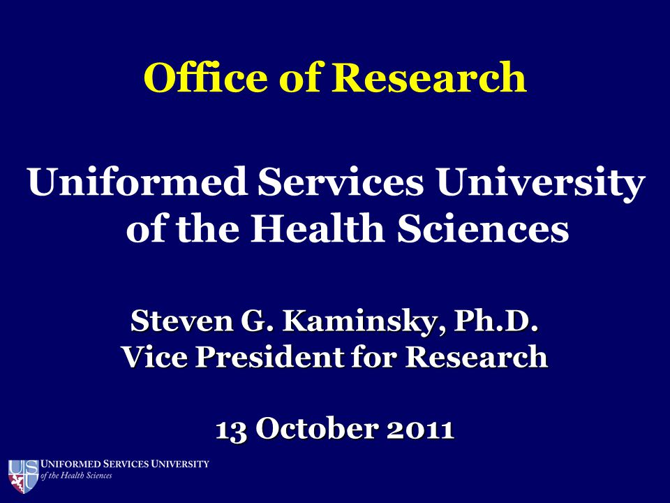 Uniformed Services University of the Health Sciences