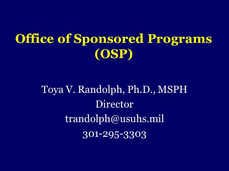 Office of Sponsored Programs (OSP)