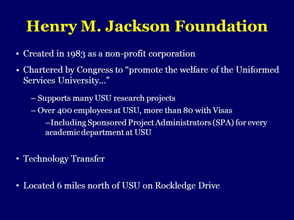 Henry M. Jackson Foundation