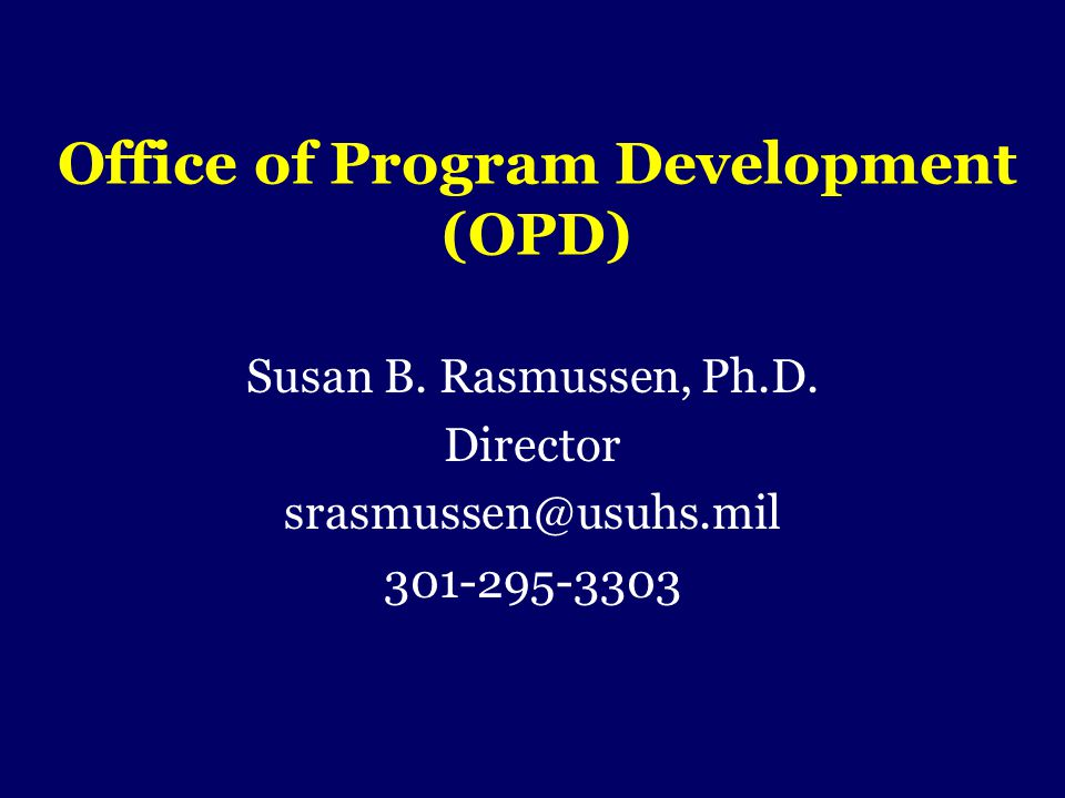 Office of Program Development (OPD)
