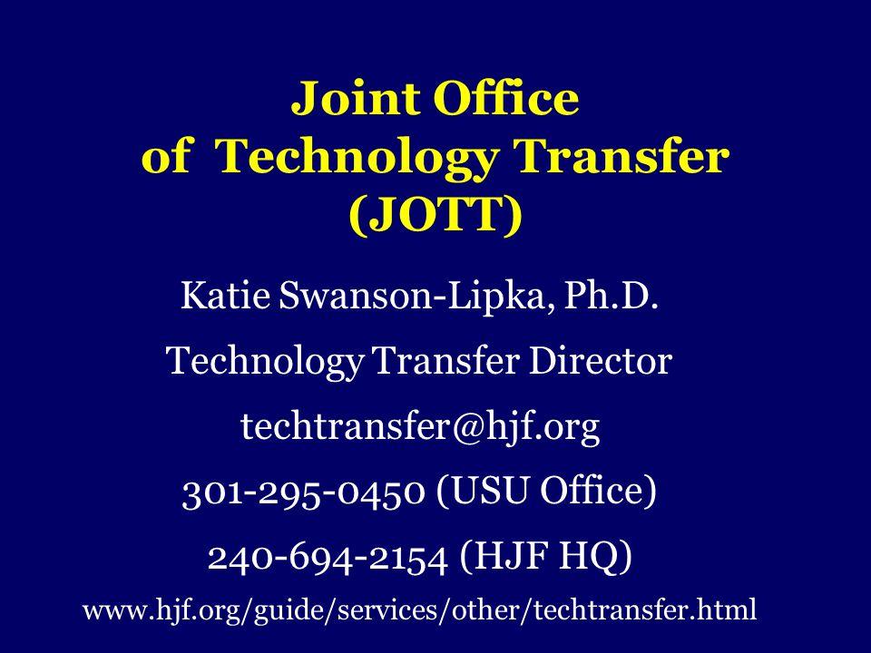 Joint Office of Technology Transfer (JOTT)