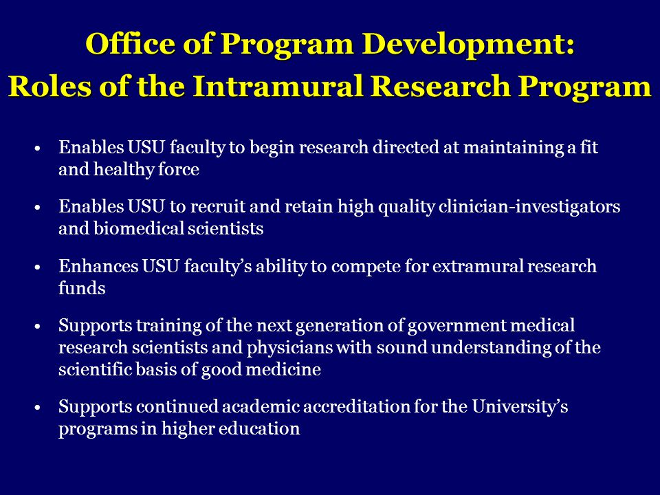 Office of Program Development: