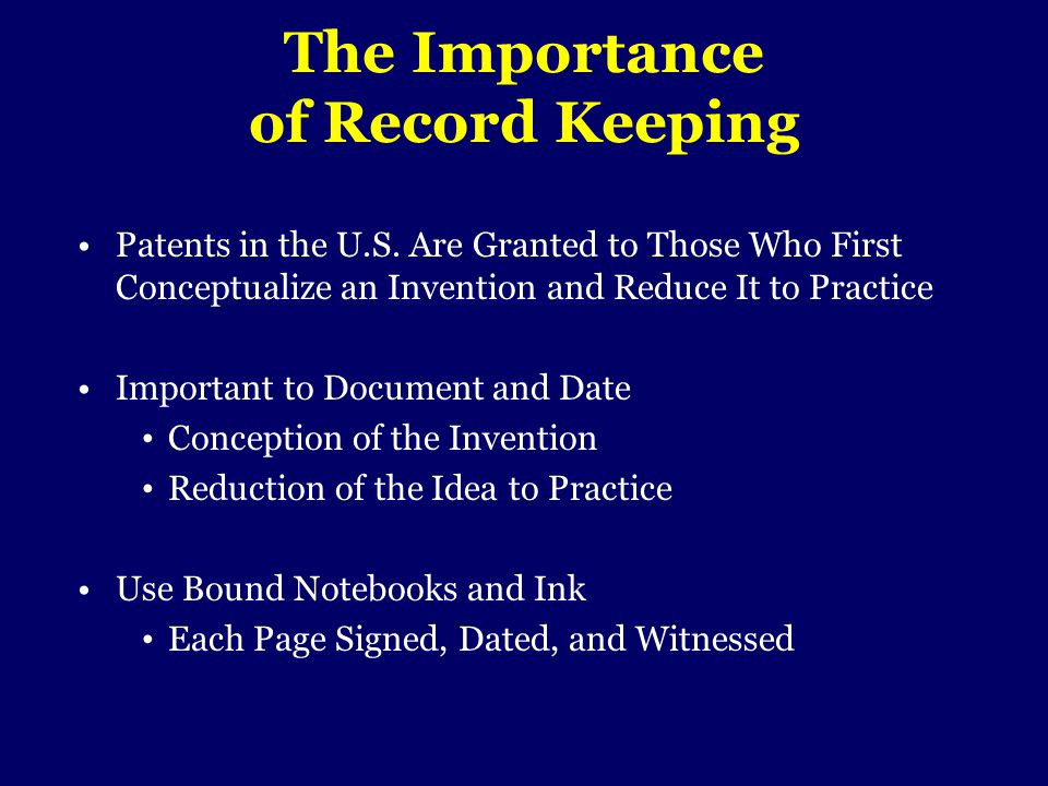 The Importance of Record Keeping