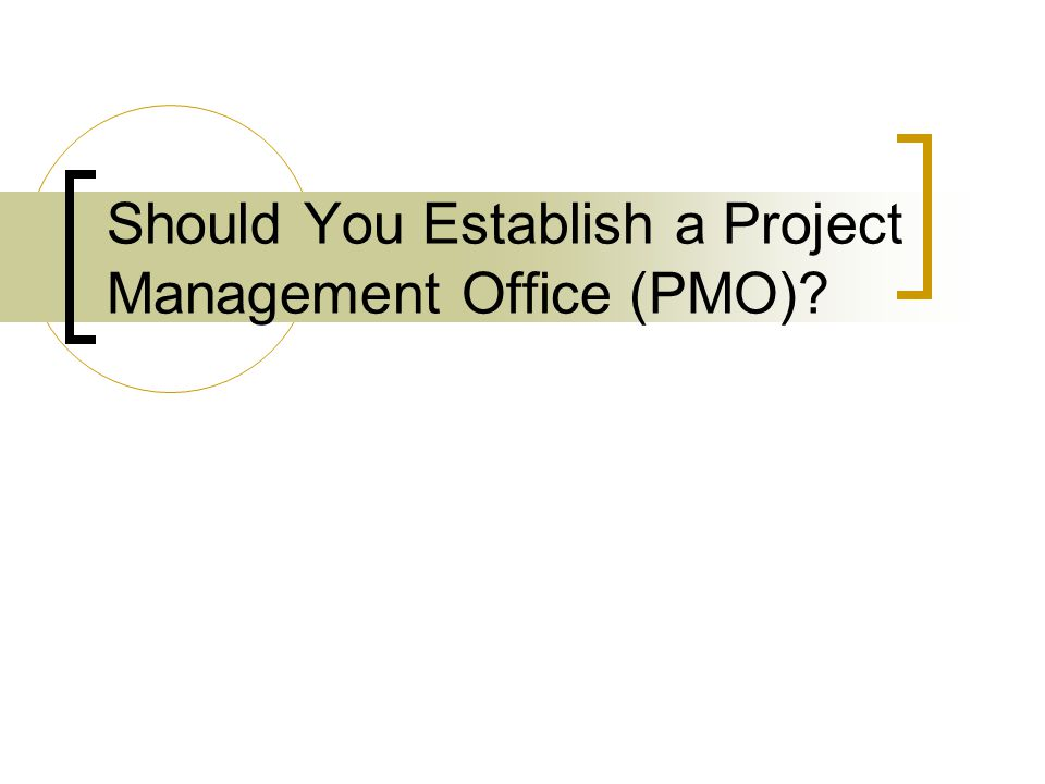 Should You Establish a Project Management Office (PMO)