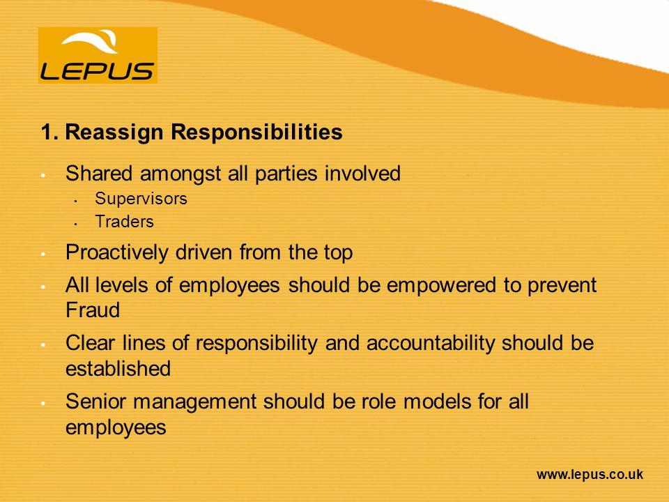 1. Reassign Responsibilities