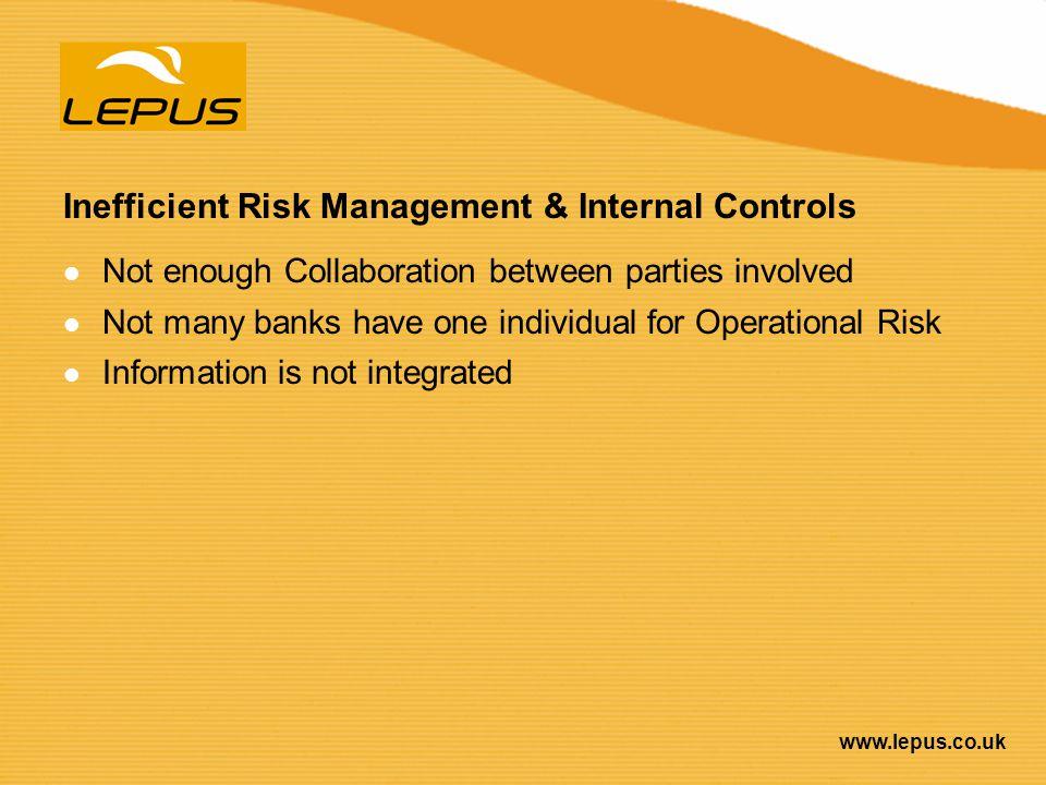 Inefficient Risk Management & Internal Controls