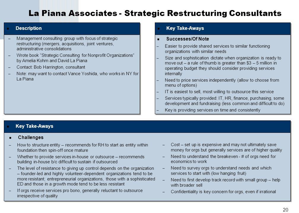 La Piana Associates - Strategic Restructuring Consultants