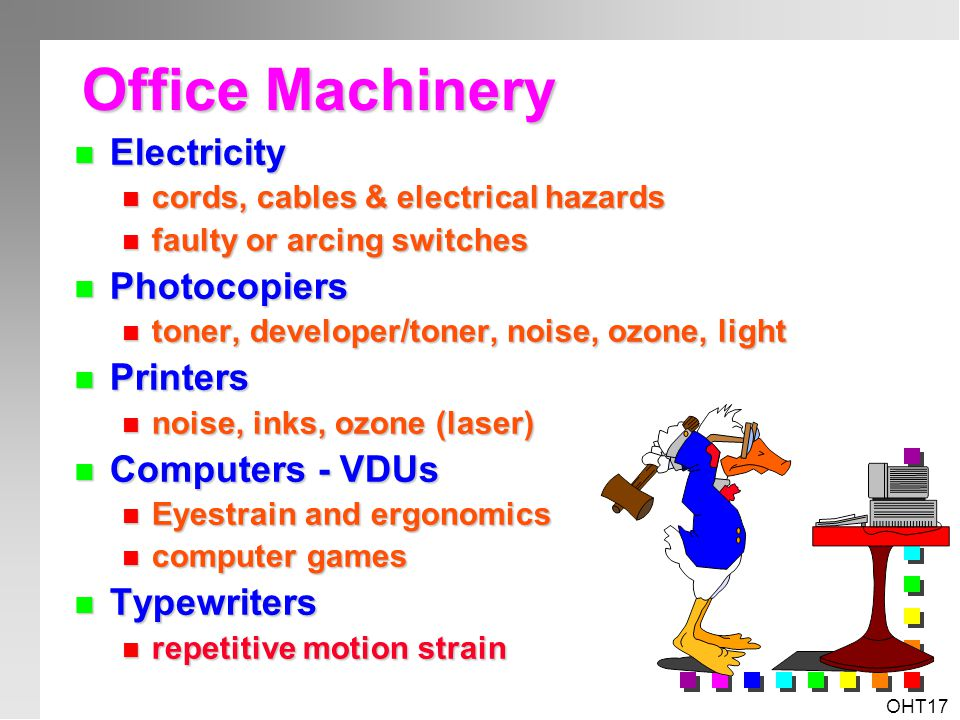 Office Machinery Electricity Photocopiers Printers Computers - VDUs