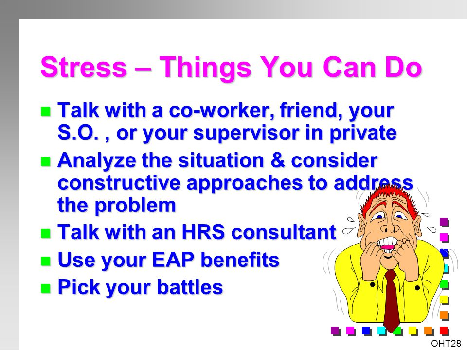 Stress – Things You Can Do