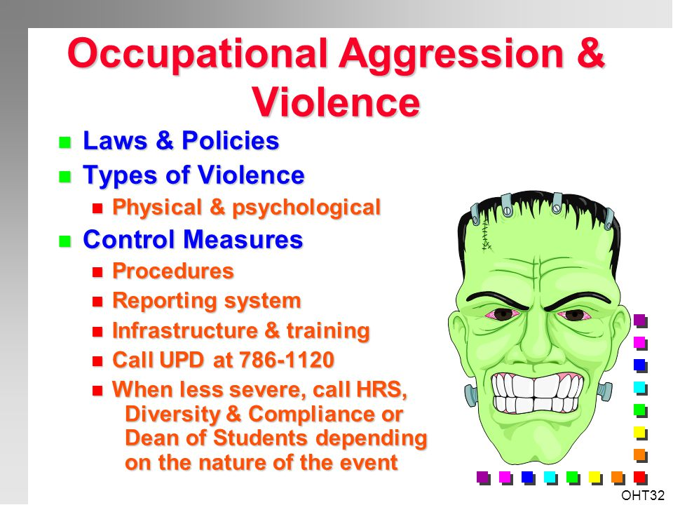 Occupational Aggression & Violence