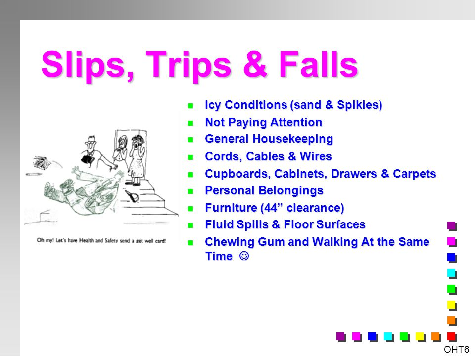 Slips, Trips & Falls Icy Conditions (sand & Spikies)