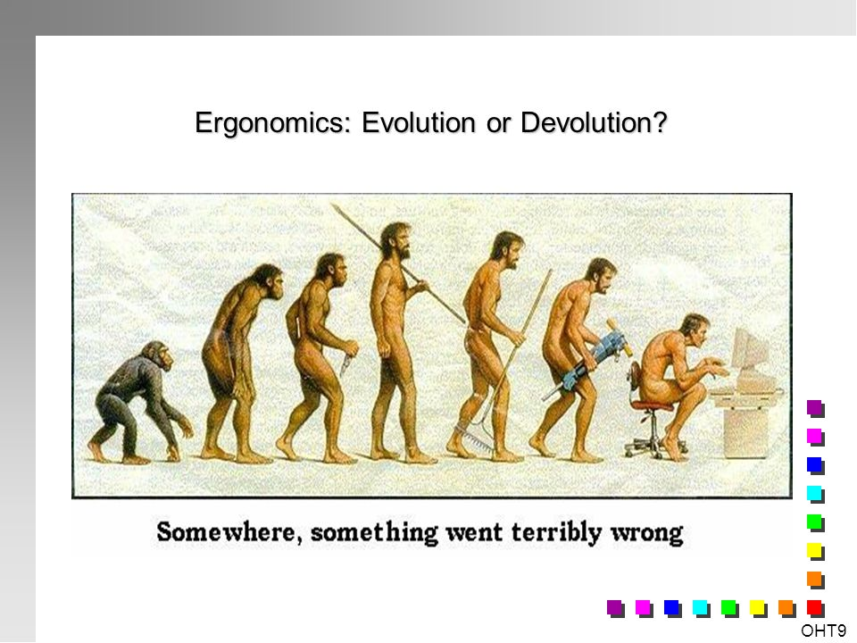 Ergonomics: Evolution or Devolution