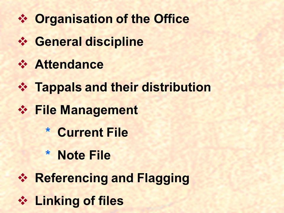 Organisation of the Office