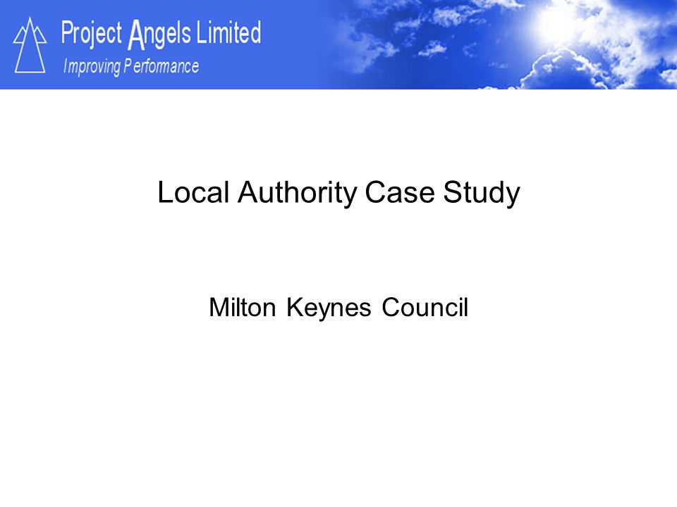 Local Authority Case Study
