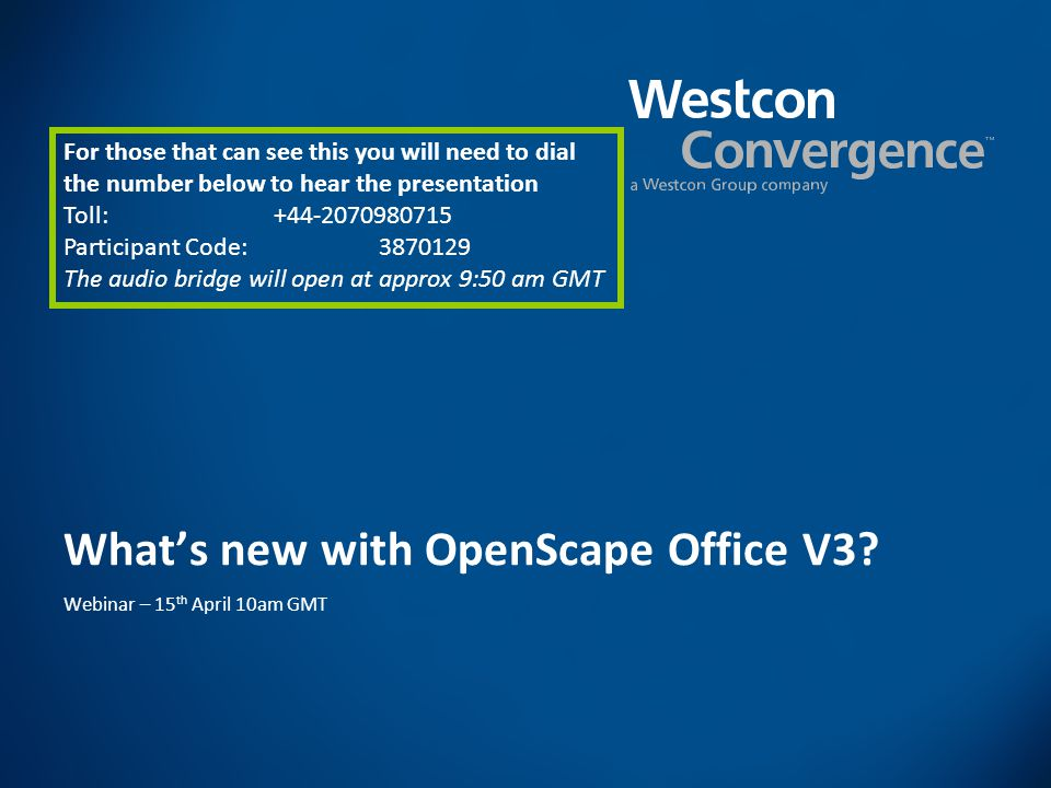 What's new with OpenScape Office V3