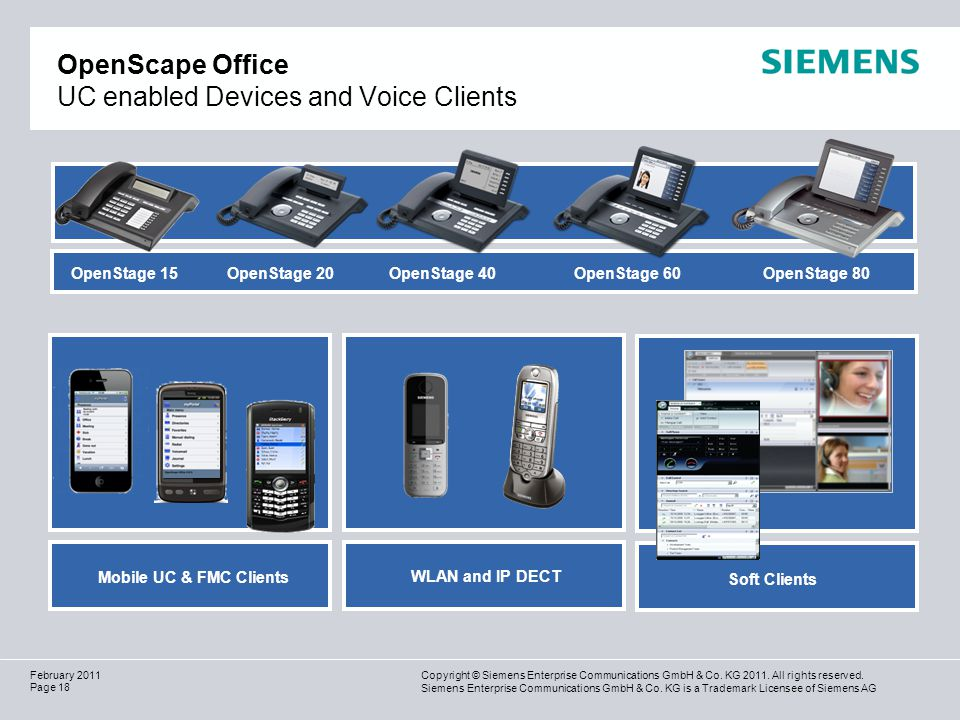 OpenScape Office UC enabled Devices and Voice Clients