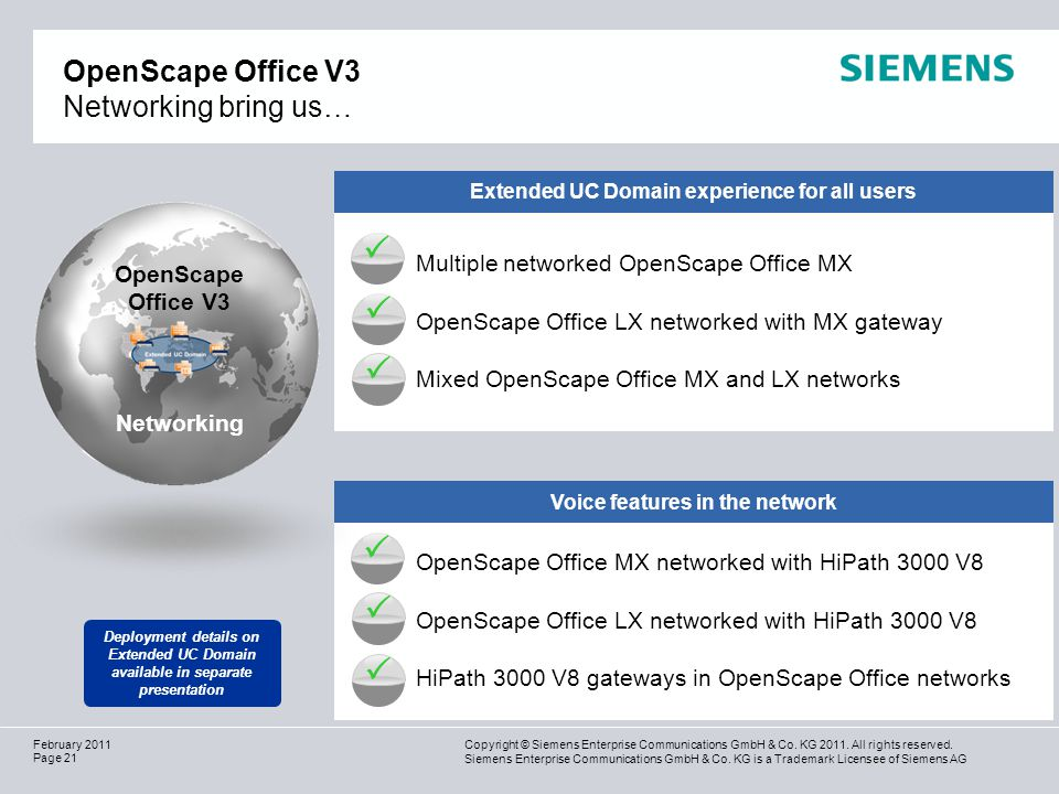 OpenScape Office V3 Networking bring us…