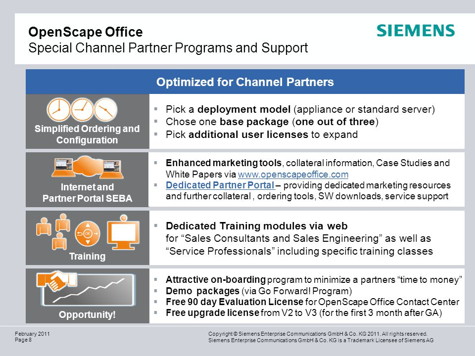OpenScape Office Special Channel Partner Programs and Support