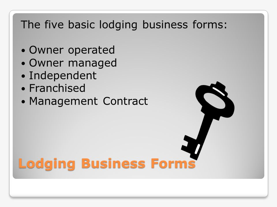 Lodging Business Forms