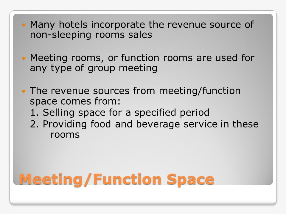 Meeting/Function Space