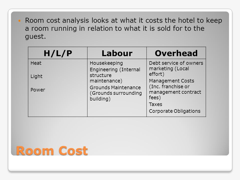 Understanding hotel organizations ppt video online download for Cost to build a hotel