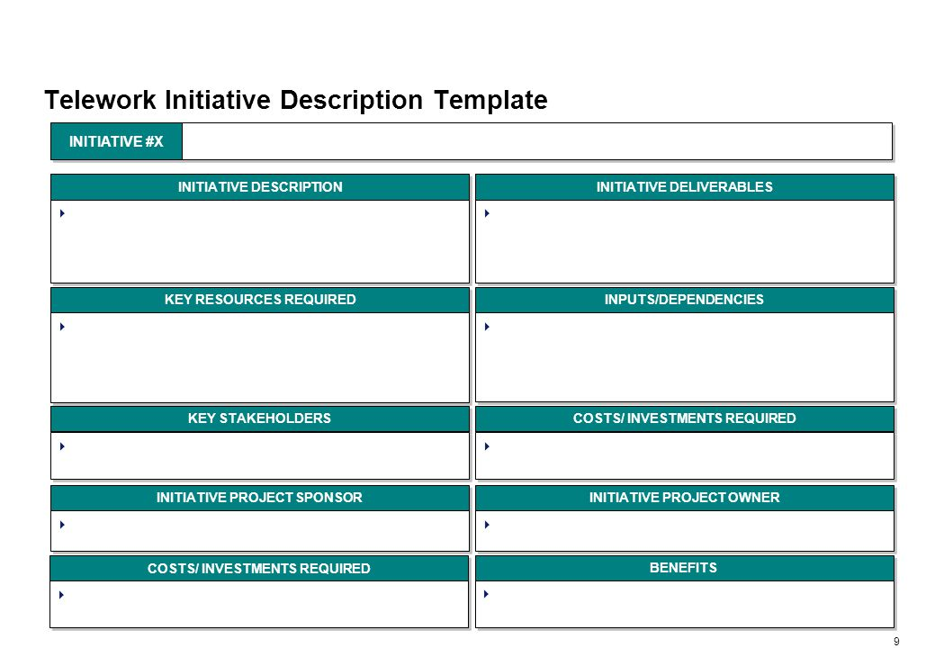 Telework Initiative Implementation Planning Template