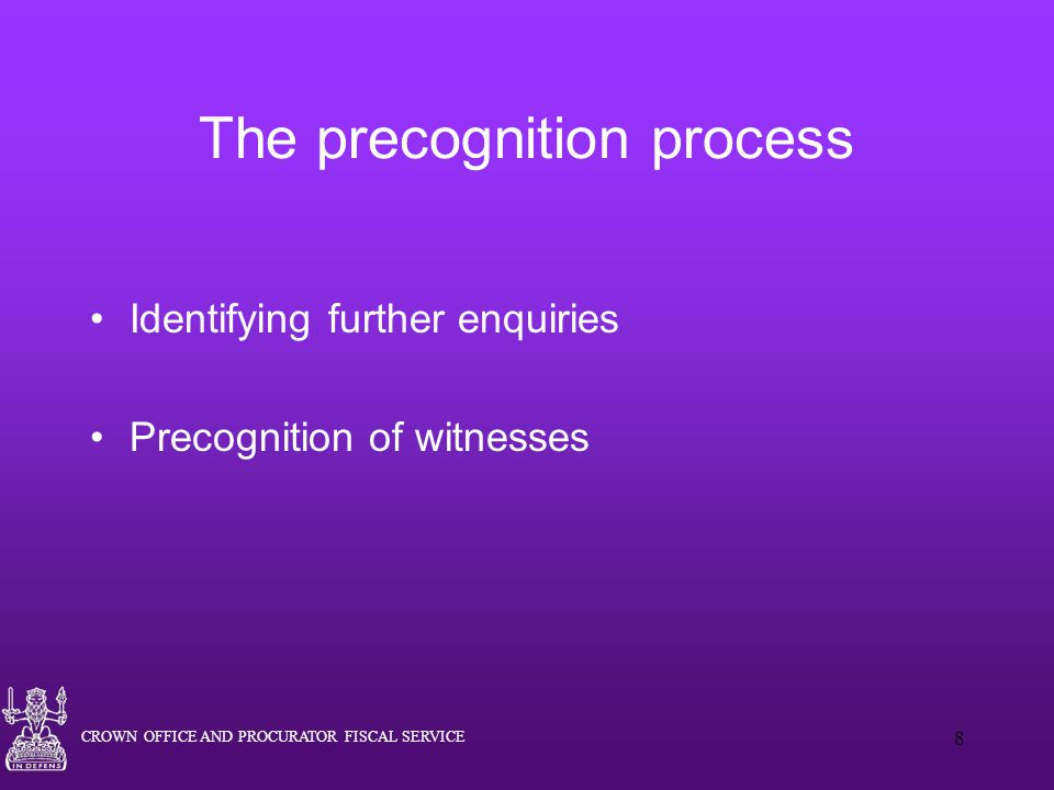 The precognition process
