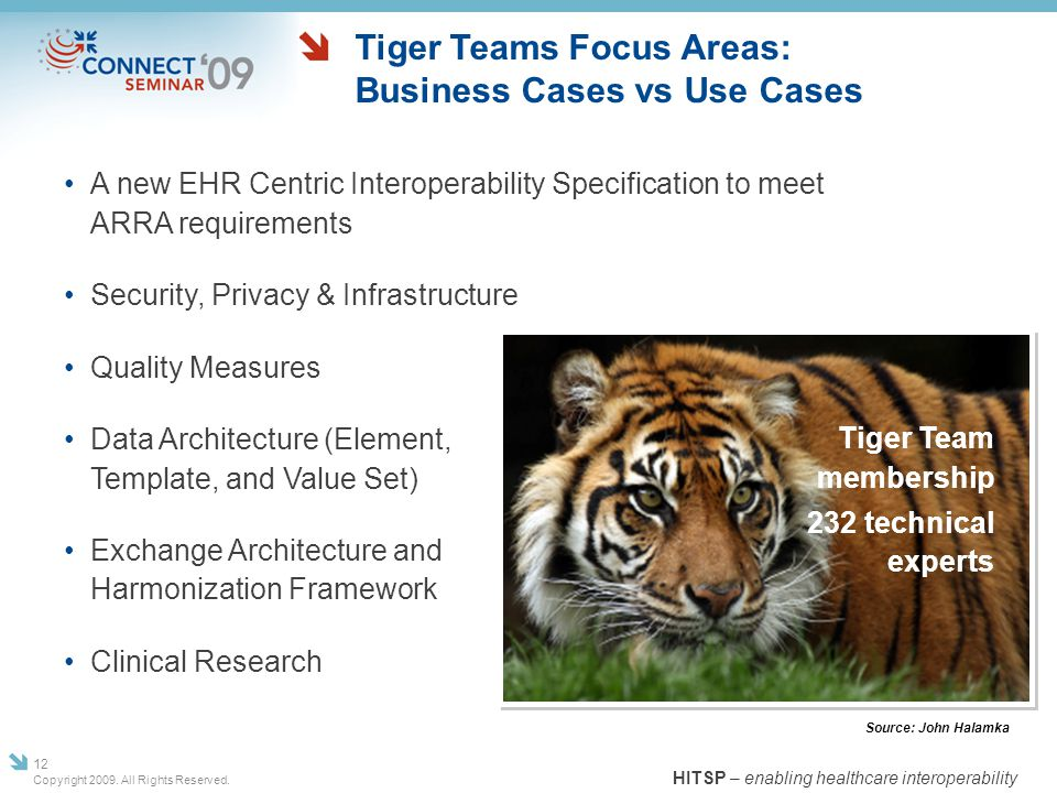 Tiger Teams Focus Areas: Business Cases vs Use Cases