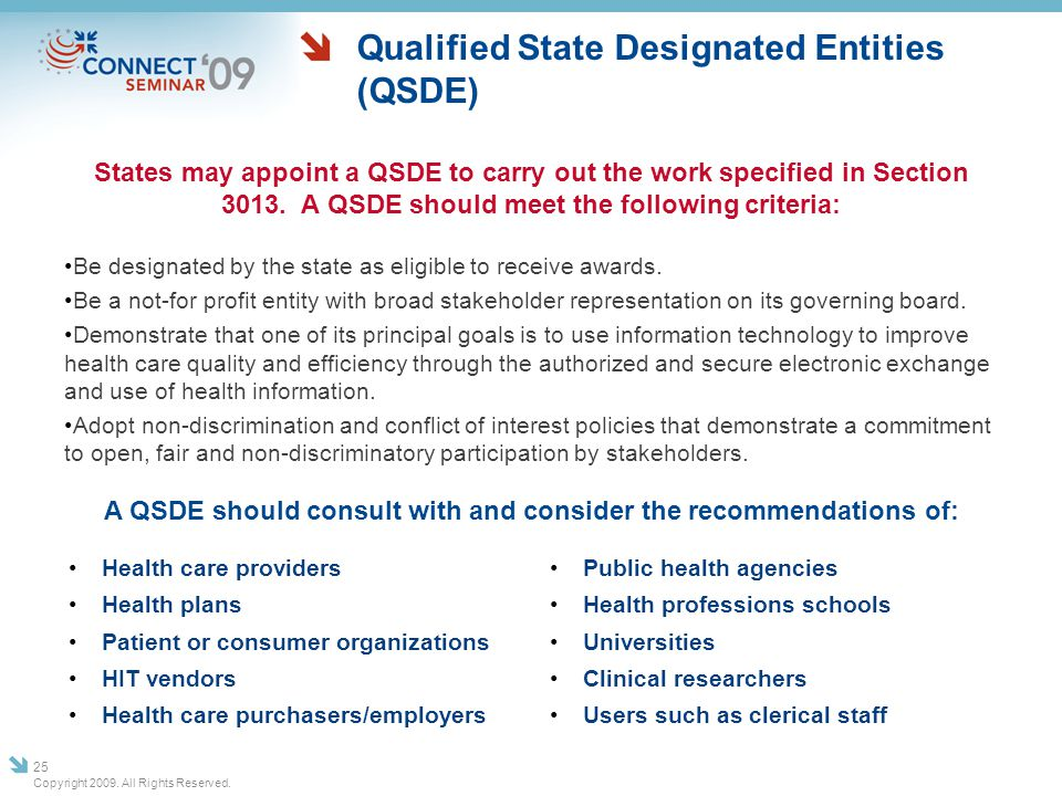 Qualified State Designated Entities (QSDE)