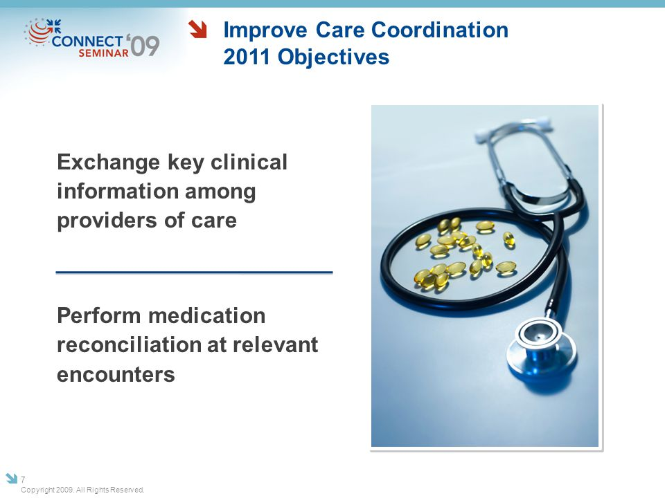 Improve Care Coordination 2011 Objectives
