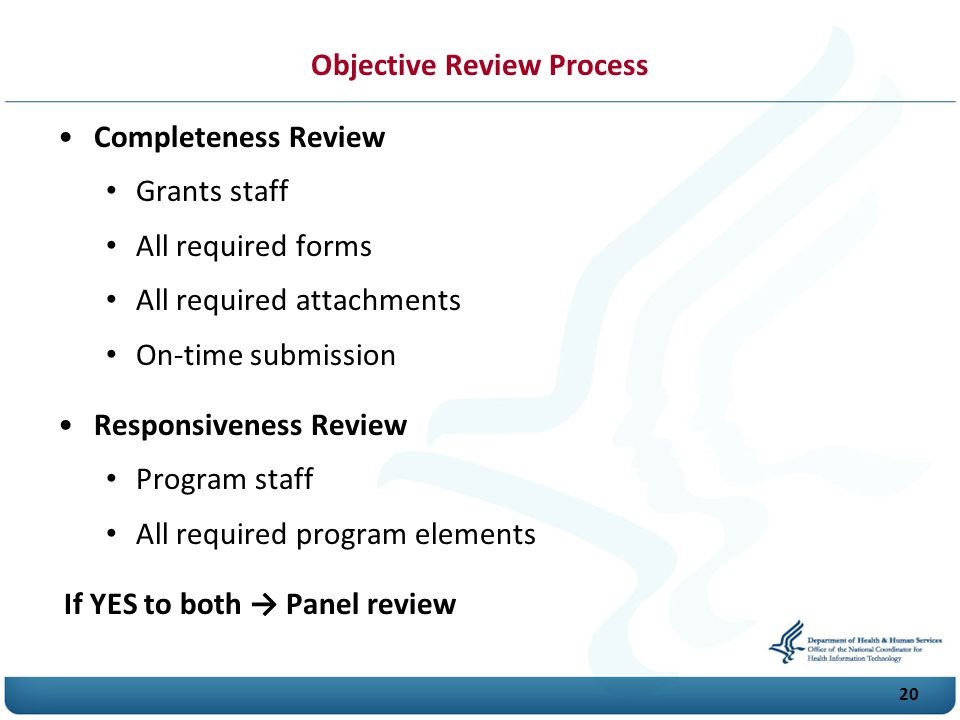 Objective Review Process