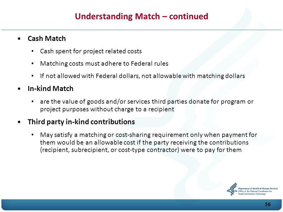Understanding Match – continued