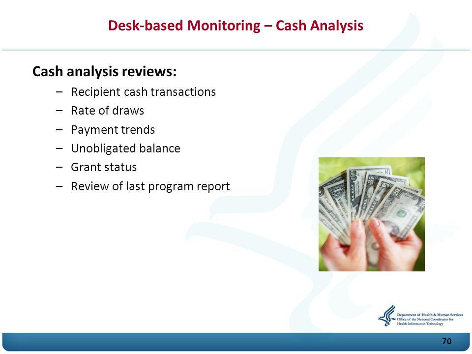 Desk-based Monitoring – Cash Analysis