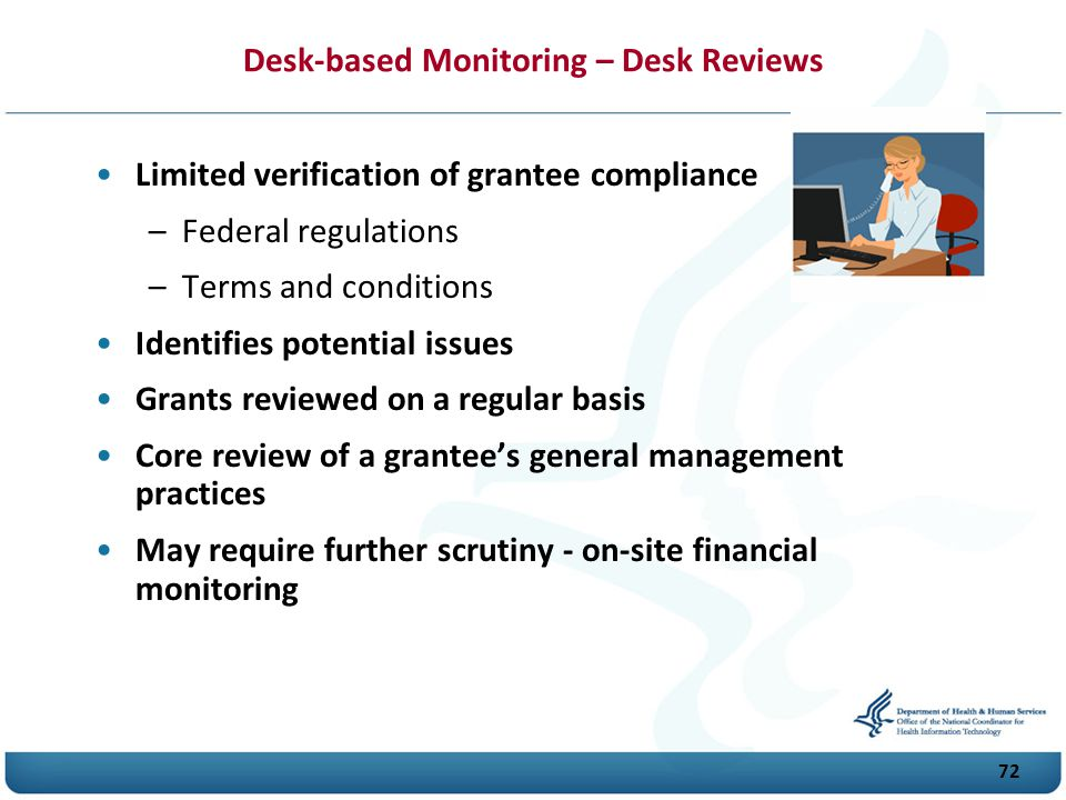 Desk-based Monitoring – Desk Reviews