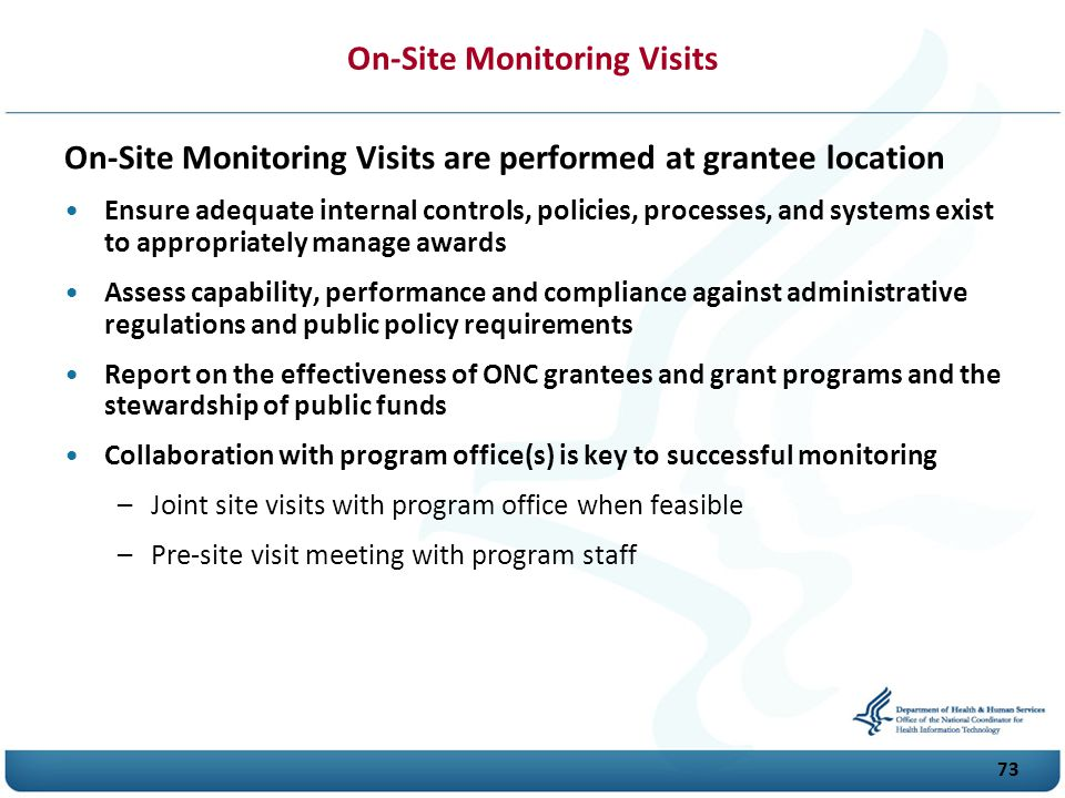 On-Site Monitoring Visits