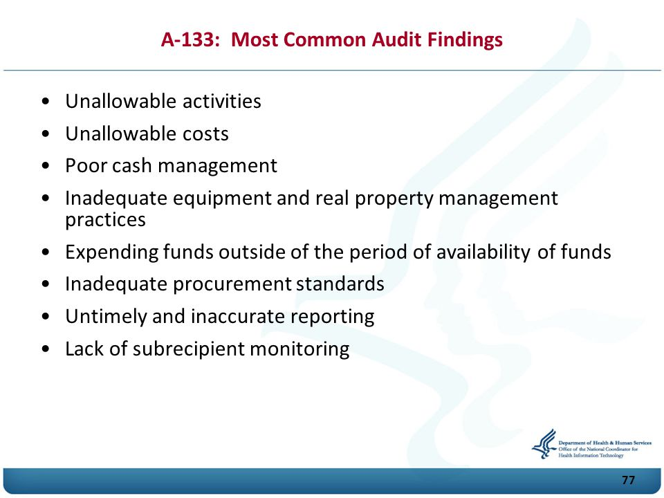 A-133: Most Common Audit Findings