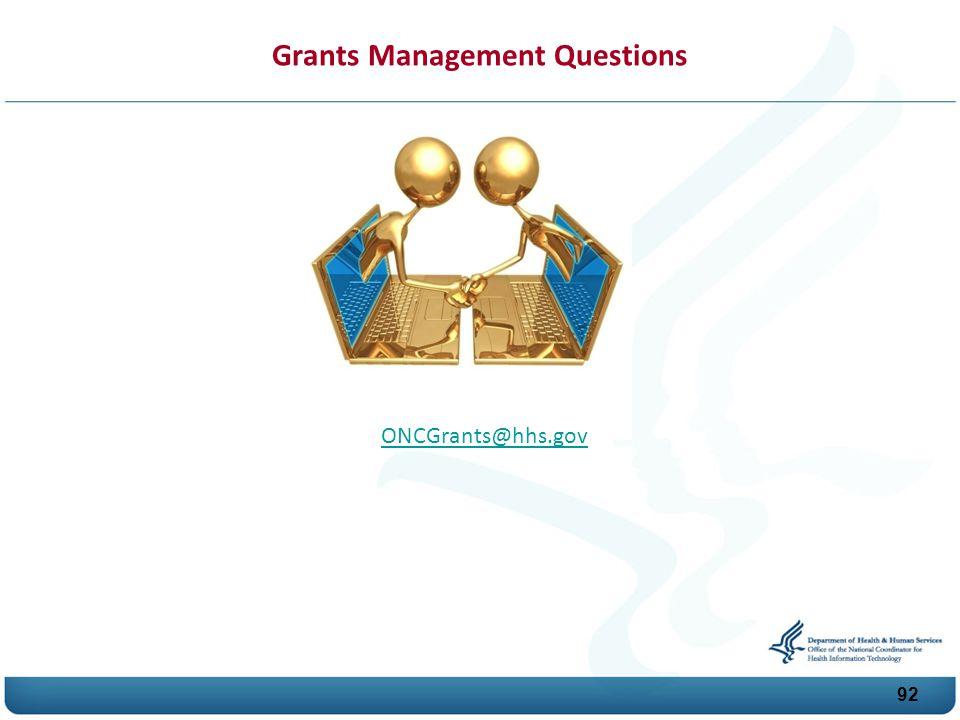 Grants Management Questions