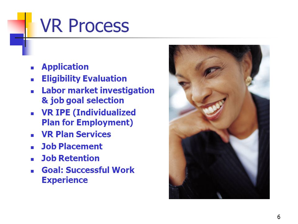 VR Process Application Eligibility Evaluation