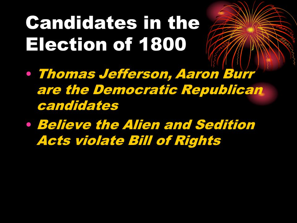 Candidates in the Election of 1800