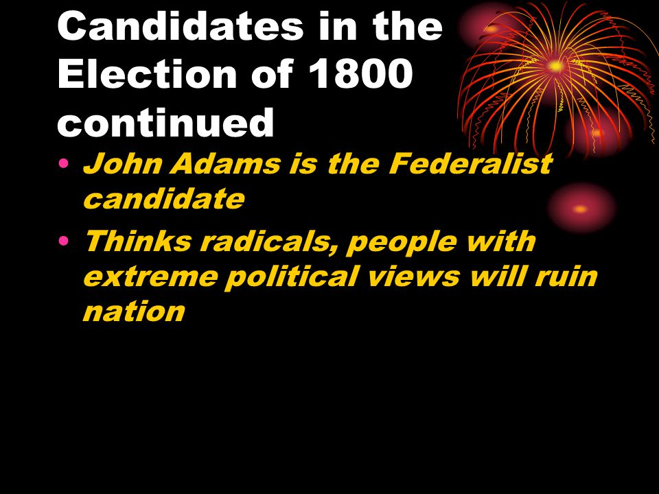Candidates in the Election of 1800 continued