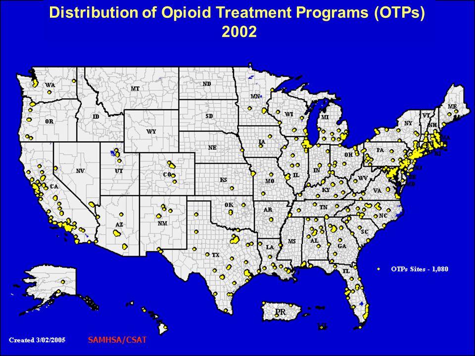 Distribution of Opioid Treatment Programs (OTPs)