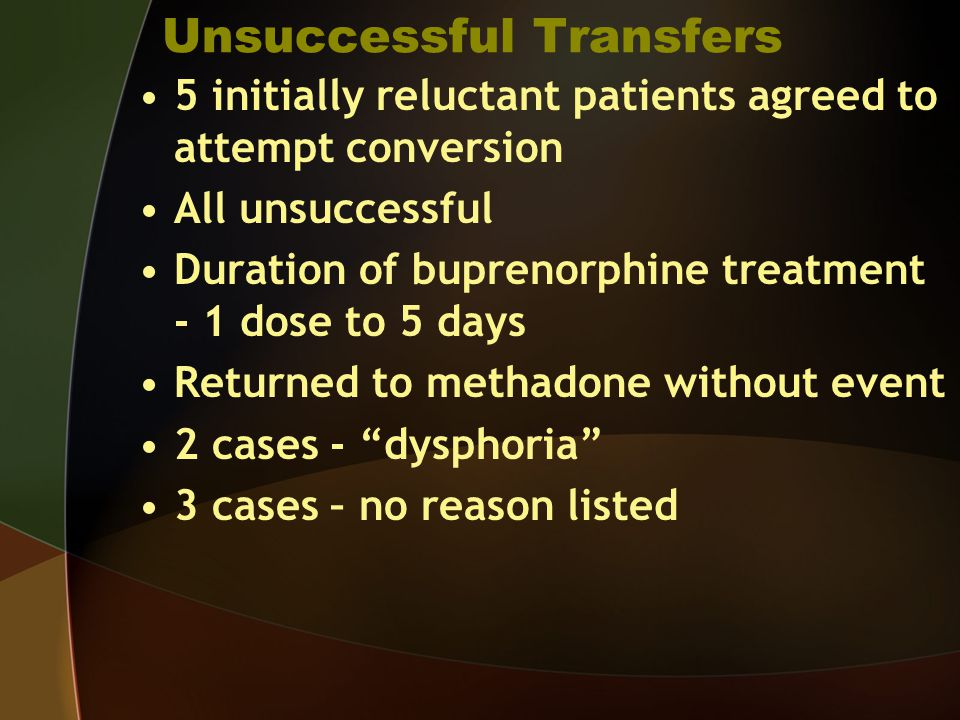 Unsuccessful Transfers