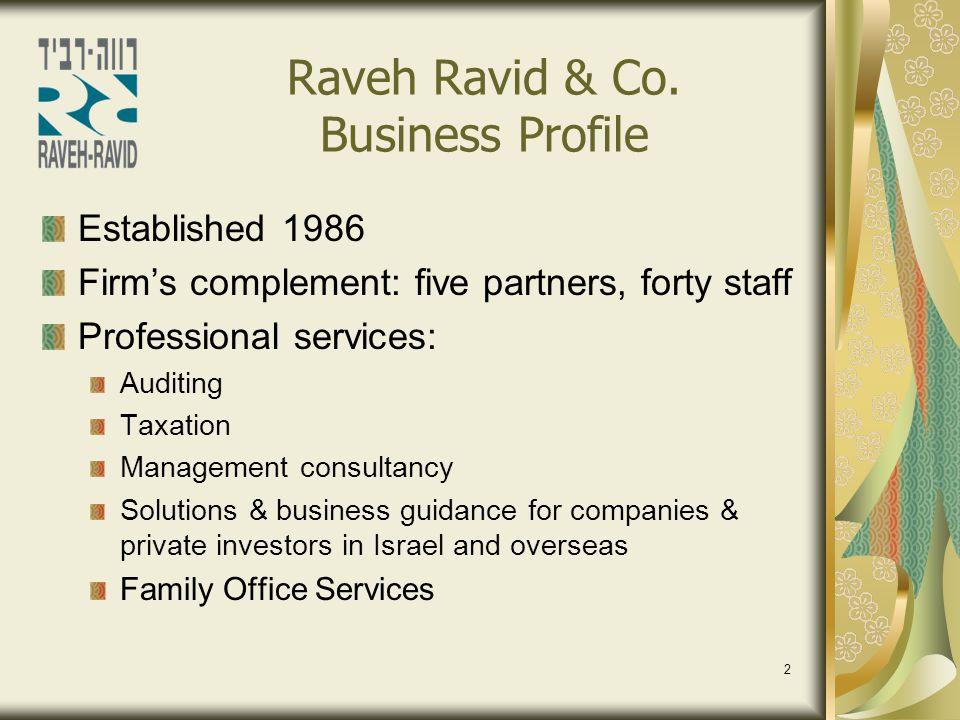 Raveh Ravid & Co. Business Profile
