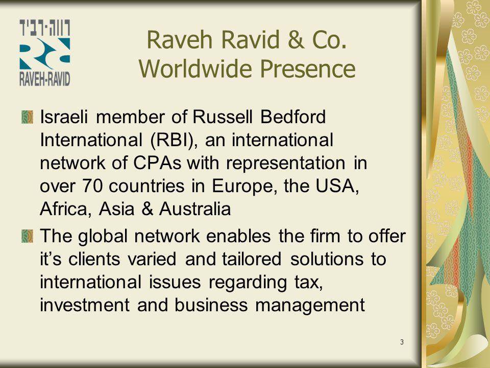 Raveh Ravid & Co. Worldwide Presence