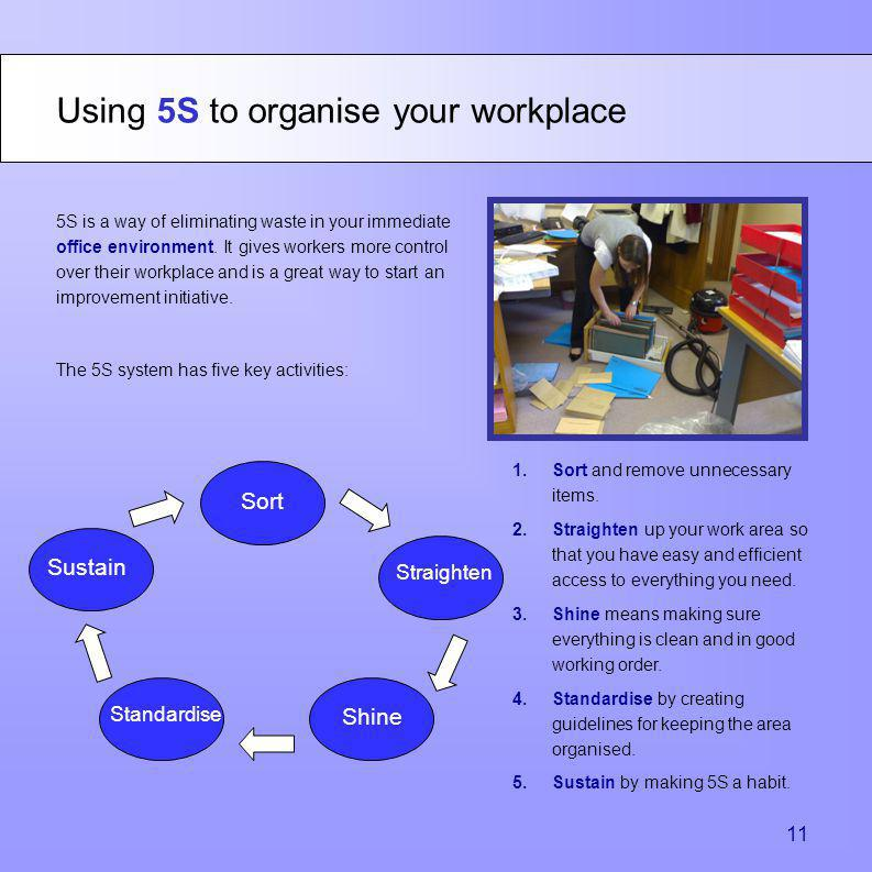 Using 5S to organise your workplace