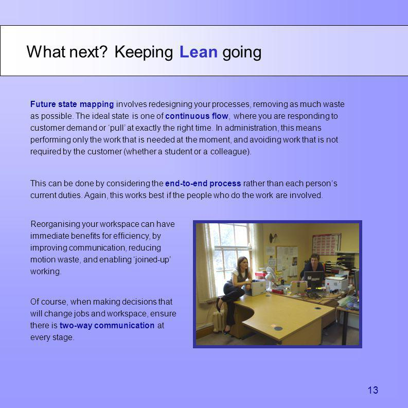 What next Keeping Lean going