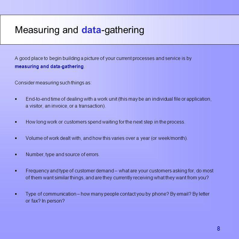Measuring and data-gathering