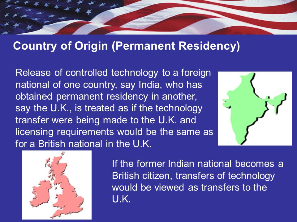 Country of Origin (Permanent Residency)